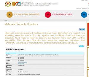 MATRADE Registration Number Yummylooks Sdn Bhd MEDRUX