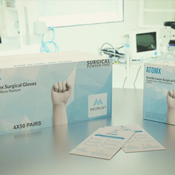 Surgical Latex Gloves ATOMX